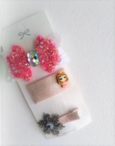 Set de 3 accesorii pentru par - Ribbon