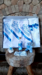 Trusou botez baietei cu bleu - Cu drag din partea nasilor