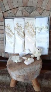 Trusou botez fetite cu ivoire - Cu drag din partea nasilor