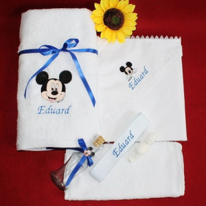 Trusou botez personalizat cu nume si Mickey Mouse NKB003