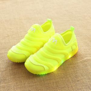 Adidasi verde neon cu luminite