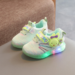 Adidasi vernil cu luminite pentru copii - Kitty