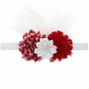Bentita fetite cu flori rosii si albe