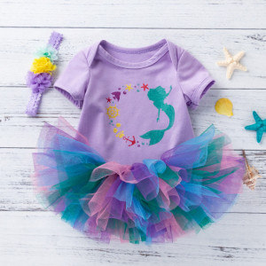 Body mov cu fustita tutu multicolora
