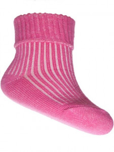 Ciorapei roz pentru bebelusi cu banda de elastic lejera