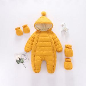 Combinezon galben mustar din fas pentru copii
