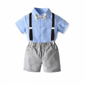 Costum elegant pentru baietei cu pantaloni si camasuta