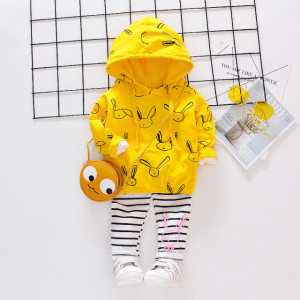 Costumas galben pentru fetite - Bunny