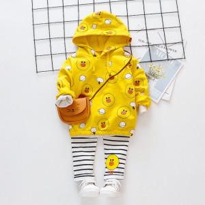 Costumas galben pentru fetite - The duck