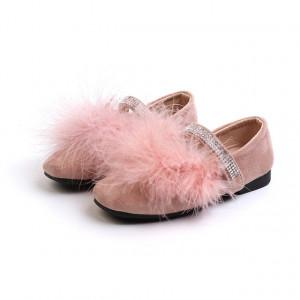 Pantofi pentru fetite - Pink pufi