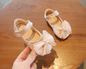 Pantofi roz pudra cu sclipici
