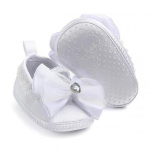 Pantofiori botez fetite - Fundita alba