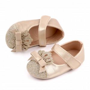Pantofiori cu sclipici si coronita