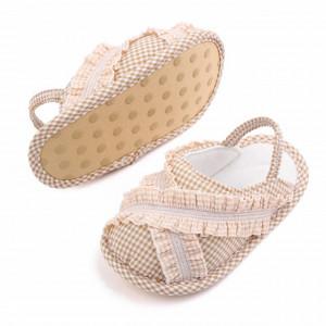 Pantofiori decupati in carouri crem
