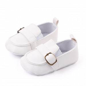 Pantofiori eleganti albi pentru baietei