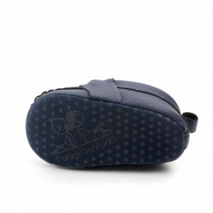 Pantofiori eleganti bleumarine cu catarame