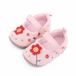 Pantofiori roz - Floricica crosetata