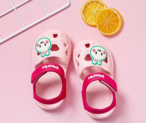 Papuci roz tip sandaluta din cauciuc - Bunny