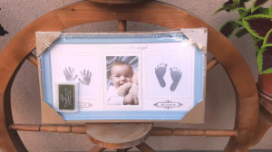 Rama foto bleu cu amprenta - Little Bebe