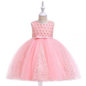 Rochie ocazie roz cu stelute