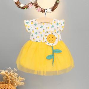 Rochita cu tulle - Floarea soarelui