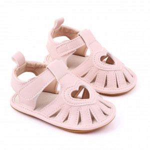 Sandale roz pudra pentru fetite - Heart