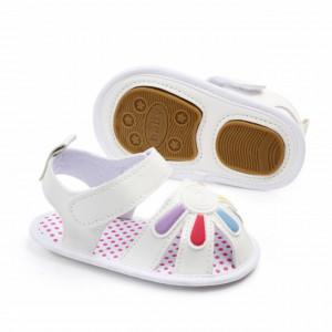 Sandalute fetite albe - Floricica curcubeu