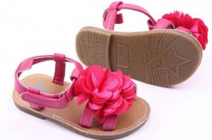 Sandalute fetite - Margareta roz ciclamen