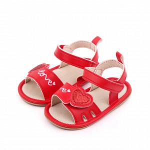 Sandalute rosii pentru fetite - Love