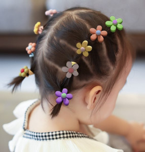 Set de 10 elastice mici pentru par - Floricele