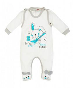 Salopeta pentru bebelusi cu bluzita - Colectia Bunny Boy
