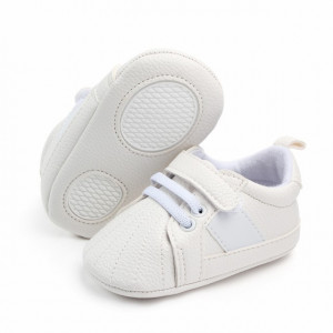 Adidasi bebelusi albi cu sireturi