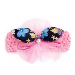 Bentita pentru fetite - Fundita cu floricele