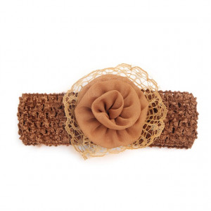 Bentita pentru fetite maro - Trandafiras