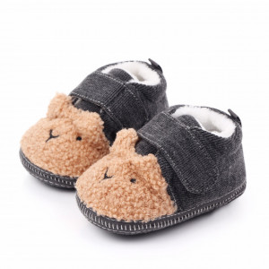 Botosei bebelusi gri cu blanita maro
