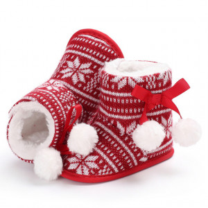 Cizmulite rosii pentru fetite - Snow