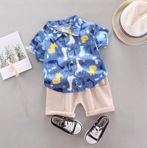 Costum bebelusi cu camasuta albastra - Taramul dinozaurilor