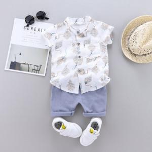 Costum bebelusi cu pantalonasi si camasuta - Frunzulite