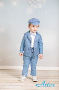 Costum elegant  - Blue&White