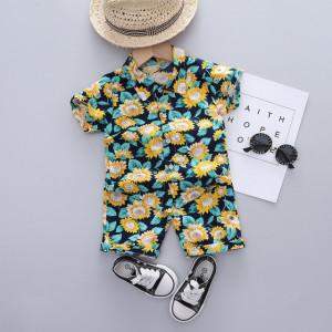 Costumas de vara pentru baietei - Floarea soarelui
