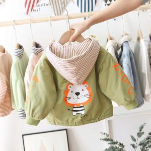 Jacheta captusita verde pentru baietei - Lion
