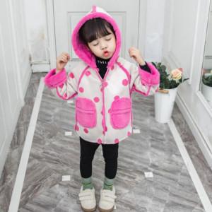 Jacheta imblanita crem deschis cu roz ciclamen