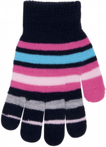 Manusi cu dungi colorate pentru fetite