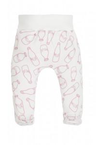 Pantaloni din bumbac pentru bebelusi cu botosei - Colectia Milk Girl