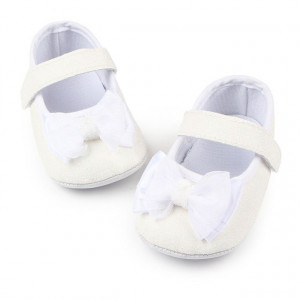 Pantofiori albi cu sclipici - Glitter