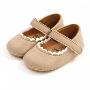 Pantofiori crem pentru fetite