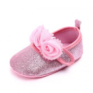 Pantofiori fetite cu sclipici roz - Trandafirasi