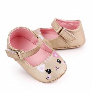 Pantofiori pentru fetite - Pisicuta aurie