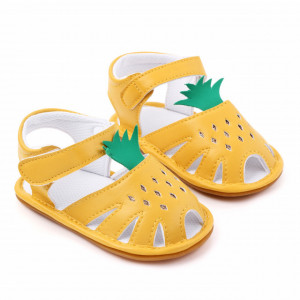 Sandale galbene pentru fetite - Ananas