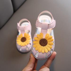 Sandale roz - Margareta galbena